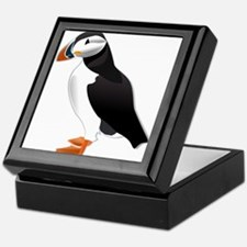 Atlantic Puffin Look forward to love Keepsake Box