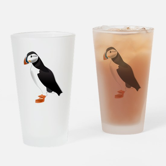 Atlantic Puffin Look forward to love Drinking Glas