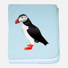 Atlantic Puffin Look forward to love baby blanket