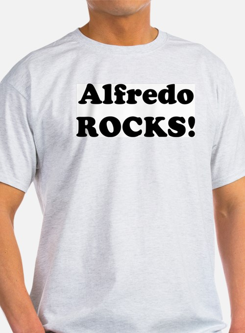 Alfredo Rocks! Ash Grey T-Shirt
