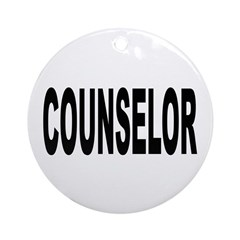 Counselor Ornament (Round)