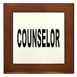 Counselor Framed Tile