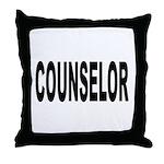 Counselor Throw Pillow