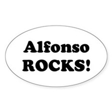 Alfonso Rocks! Oval Decal
