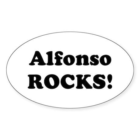 Alfonso Rocks! Oval Sticker