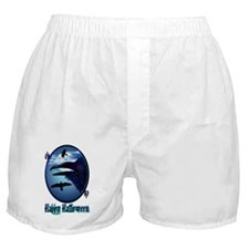 Raven in Moon Shine lettered-Trans Boxer Shorts