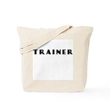 TRAINER IN BLACK LETTERING Tote Bag