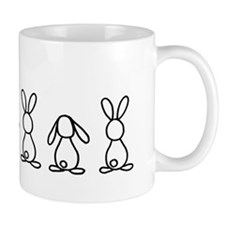 bunny family sticker Mug