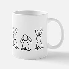 bunny family sticker Mug