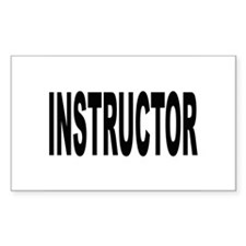 Instructor Rectangle Decal
