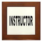 Instructor Framed Tile