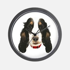 English CockerSpaniel_face002 Wall Clock