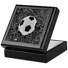 Soccer Ball in The Grass Keepsake Box