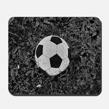Soccer Ball in The Grass Mousepad