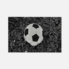 Soccer Ball in The Grass Rectangle Magnet