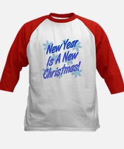 New Year Is A New Christmas! Kids Baseball Jersey