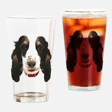 English CockerSpaniel_face002 Drinking Glass