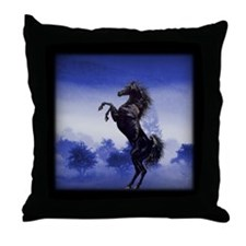 Stallion Throw Pillow (blue)