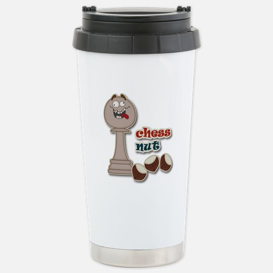 Chess Pawn, Chess Nut and Chestnuts Travel Mug