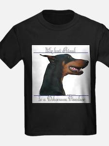 Dobie Best Friend2 Ash Grey T-Shirt