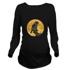 owlmoon.png Long Sleeve Maternity T-Shirt