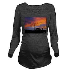 Sunset on the Farm Long Sleeve Maternity T-Shirt