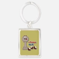 Chess Pawn, Chess Nut and Chestnuts Keychains
