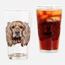 EnglishCocker Spiegel_face005 Drinking Glass