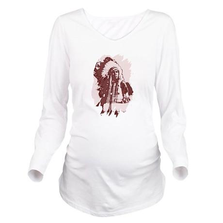 indian1dsq.jpg Long Sleeve Maternity T-Shirt