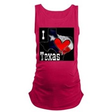 I Love Texas Maternity Tank Top