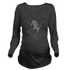 skisil3.png Long Sleeve Maternity T-Shirt