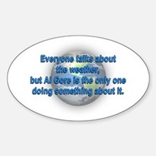 Global Warming Al Gore Oval Decal