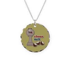 Chess Pawn, Chess Nut and Chestnuts Necklace