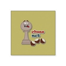 Chess Pawn, Chess Nut and Chestnuts Sticker