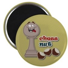 Chess Pawn, Chess Nut and Chestnuts Magnets