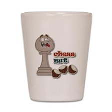 Chess Pawn, Chess Nut and Chestnuts Shot Glass