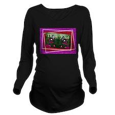 butterflies1d.jpg Long Sleeve Maternity T-Shirt