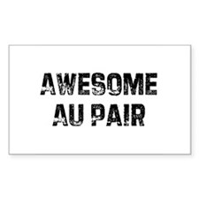Awesome Au Pair Rectangle Decal