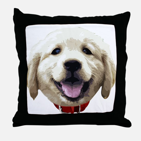 GoldenRetriever_face001 Throw Pillow