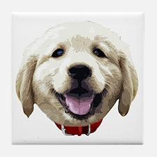 GoldenRetriever_face001 Tile Coaster