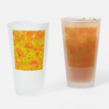 bubbles, shiny yellow orange, 70s Drinking Glass