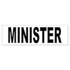 Minister Bumper Car Sticker