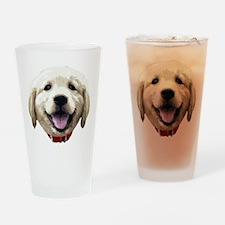 GoldenRetriever_face001 Drinking Glass