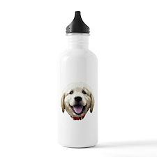 GoldenRetriever_face001 Water Bottle
