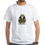 US Soldier Penguin White T-Shirt