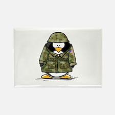 US Soldier Penguin Rectangle Magnet