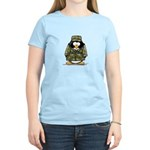 US Military Penguin Women's Pink T-Shirt
