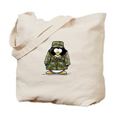 US Military Penguin Tote Bag