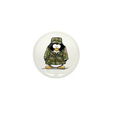 US Military Penguin Mini Button (10 pack)