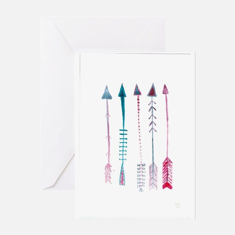 Five Arrows Greeting Card